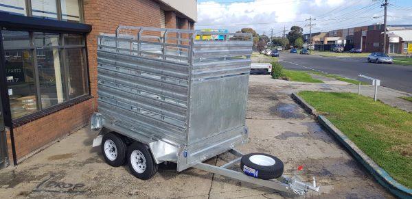 custom trailers melbourne , dual axle trailer , enclosed car trailer , enclosed motorcycle trailer